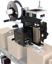 automatic label printer-applicator for cardboard box max. 16 in/s EPI Labelers