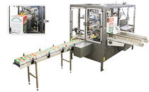 automatic top load case packer (hot melt glue, adhesive tape)  Eagle