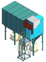 bag dust collector : reverse air 74 - 1440 m² | HSS Eco Instal