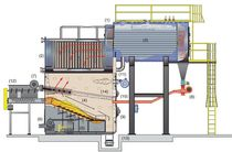 biomass fired boiler: reciprocating fire grate 3 450 - 60 000 lbs/h, 100 - 400 psi | Hybrid RG Hurst Boiler