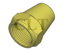 brass cap nut 1/8&quot; - 3/4&quot;, 2 000 psi Taiwan