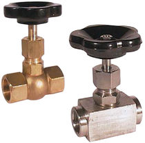 "brass needle valve 1/8"" - 2"", PN 400 