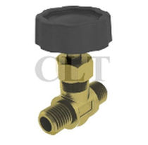 "brass needle valve 1/4"", 350 psi 