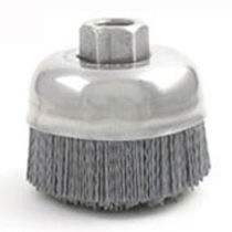 abrasive nylon cup brush for deburring  Brush Research Manufacturing