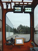 camera vision system for side loader forklift truck  Orlaco Products BV