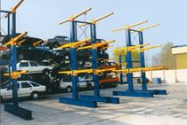 cantilever racking for car scrap yard  industrie SA