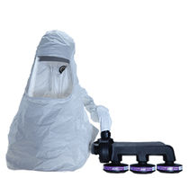 chemical protective clothing: suit with powered air-purifying respirator (PAPR) PROFLOW 3 PAPR Scott Health & Safety