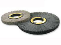 circular abrasive nylon brush for cleaning, polishing, deburring Nampower™ Brush Research Manufacturing