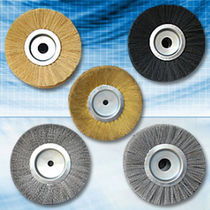 circular abrasive nylon brush for cleaning, polishing, deburring  Applied Brushes