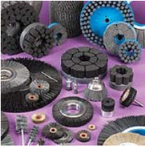 circular abrasive nylon brush for cleaning, polishing, deburring  Weiler Corporation
