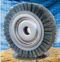 circular wire brush for cleaning, deburring  Applied Brushes