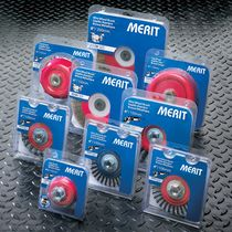 circular wire brush for cleaning, deburring  Norton Abrasives