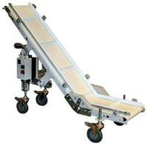 cleated belt conveyor with adjustable slope  Autobag