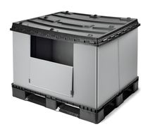 collapsible plastic pallet-box 1 200 x 1 000 x 780 mm, 16.7 kg | SF1000TB SMART FLOW EUROPE
