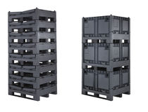 collapsible plastic pallet-box CARGO 700 FOLD INTERBOX
