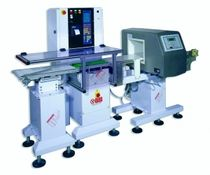 combined solution : metal detector and checkweigher  Simionato Integrated Packaging System S.r.l.