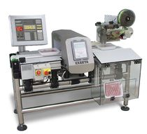 combined solution : metal detector, checkweigher, labeller Tribloc Grupo Exakta Pack