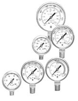 compressed gas Bourdon tube pressure gauge max. 4 000 psi | P-600 series AMETEK U.S. GAUGE