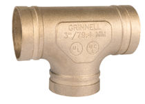 copper tee for tube grooved coupling DN 50 - 200 | 619 series Grinnell