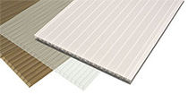 corrugated multiwall polycarbonate sheet (PC) SUNLITE® Palram Industries Ltd.