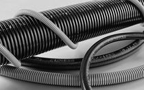 corrugated polyamide cable protection conduit LHT series Moltec International Ltd.