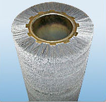 cylindrical spiral wire brush for cleaning, deburring  Applied Brushes