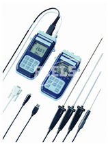 digital handheld thermometer with temperature probe -200...+650 °C | HD2107, HD2127 Riels Instruments