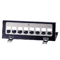 DIN rail mounted modular patch panel 25001  Mennekes