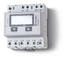 DIN-rail mounted single phase electric energy meter 10 A, 230 V | 7E series FINDER France