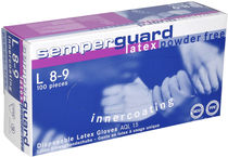 disposable protective rubber gloves SEMPERGUARD® LATEX POWDER FREE IC Sempermed