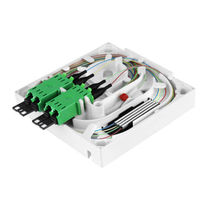 distribution box for optic fiber OptiSocket HUBER+SUHNER
