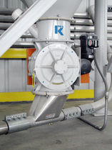 diverting rotary valve for pneumatic conveying  K-Tron