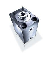 double-acting hydraulic block cylinder ø 16 - 200 mm, max. 500 bar | BZ series AHP Merkle