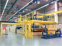 double belt press for floor covering (homogeneous)  Techno Partner Samtronic