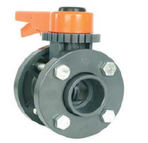 "double flange butterfly valve 2 - 12"", 10 bar Coraplax"