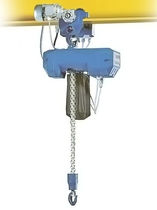 electric chain hoist with electric trolley 125 - 2 000 kg | TRALIFT&amp;trade; TE series  TRACTEL
