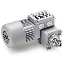 electric worm gearmotor with planetary reduction stage 23.5 Nm, 230 VAC | MCE MINIMOTOR