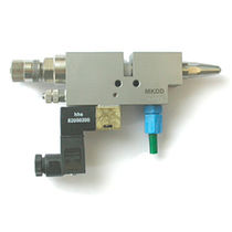 electropneumatic gun for adhesive application max. 150 bar (2 176 psi) | MKDD series Baumer hhs