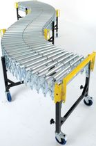 expandable and mobile roller conveyor 750 mm, 250 kg/m WILTSCHE Fördersysteme