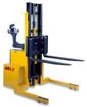 explosion proof electric pedestrian straddle stacker 2 000 - 6 000 lb  Man & Material Lift Engineering