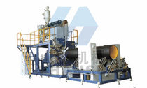 extrusion line for HDPE pipes max. 850 kg/h | SSG Qingdao Shansu Plastic Extrusion Equipment