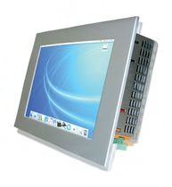 "fanless touch screen industrial panel PC 10"", Intel Atom Z510P, 1.1 GHz, max. 2 GB 