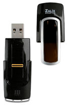 fingerprint USB storage drive Certi BioFlash ZALIX BIOMETRIE