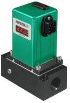 flow transducer with integrated digital display max. 250 scfm | DFP, DFR series Proportion-Air
