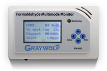 formaldehyde (CH2O) monitoring device FM-801 GrayWolf Sensing Solutions