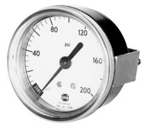 front mount miniature Bourdon tube pressure gauge max. 3 000 psi | 844, 845 series AMETEK U.S. GAUGE