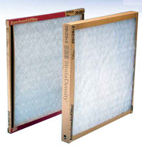 glass fiber panel air filter max. 2"
