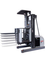 high lift vertical order picker with lifting forks max. 2 200 lbs | OP series Nissan Forklift