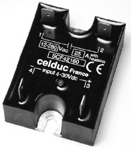 high-power DC solid-state relay 230 VAC, max. 25 A | SCF series celduc relais