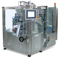 high-speed automatic tube filler and sealer max. 6 000 p/h, 2000 x 2140 x 2200 mm | P300 TGM - TECNOMACHINES srl